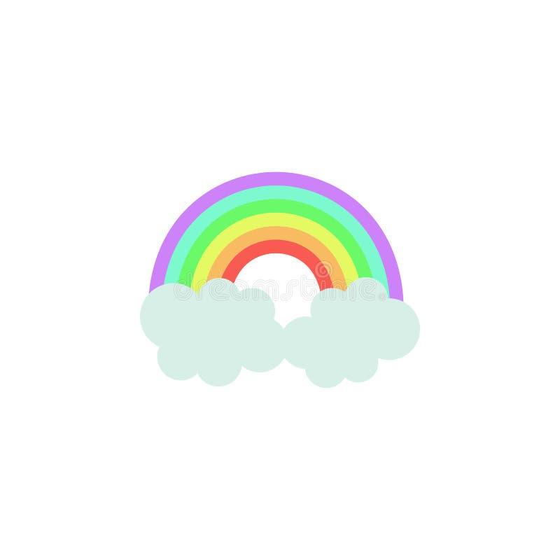 Regenbogen farbige Ikone Element der farbigen Herbstikone für bewegliche Konzept und Netz apps Farbige Regenbogenikone kann für N stock abbildung