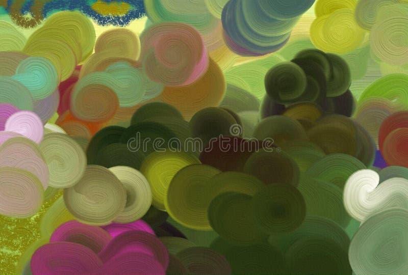Regenbogen farbiger Hintergrund lizenzfreie abbildung