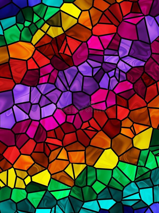 Regenbogen-Fliese-Hintergrund lizenzfreie abbildung