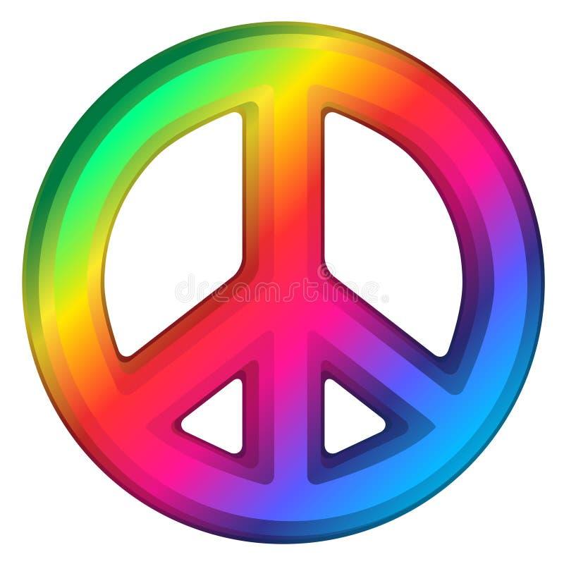 Regenbogen-Friedenszeichen vektor abbildung
