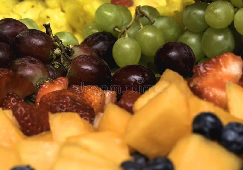 Regenbogen-Fruchtzopf stockfotos