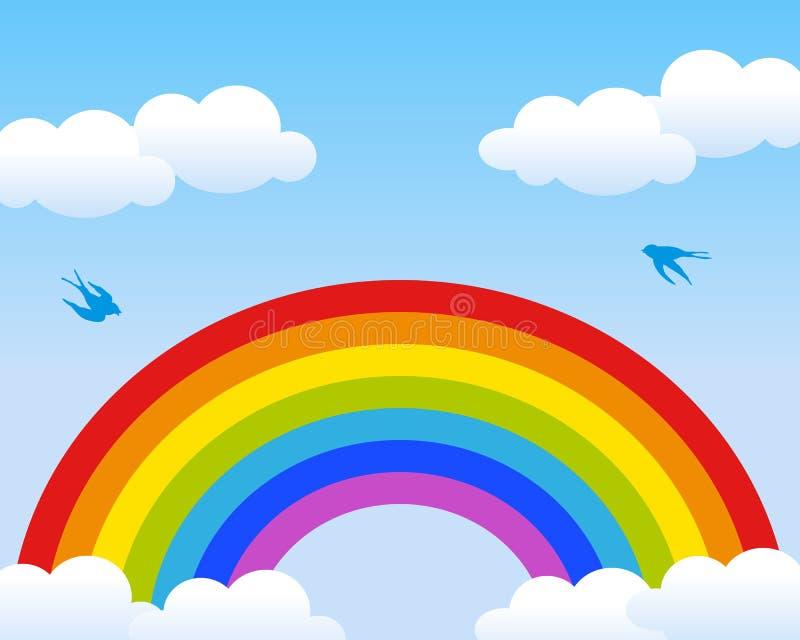 Regenbogen-Hintergrund vektor abbildung
