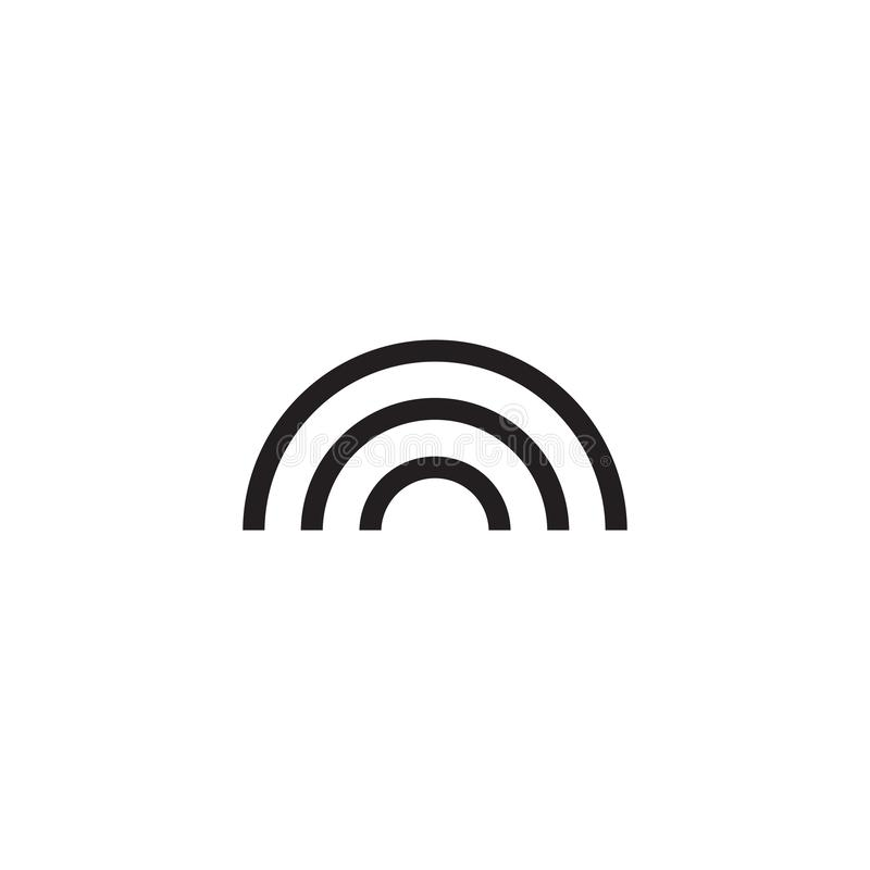 Regenbogen-Ikonen-flaches Vektor-Weiß lizenzfreie abbildung
