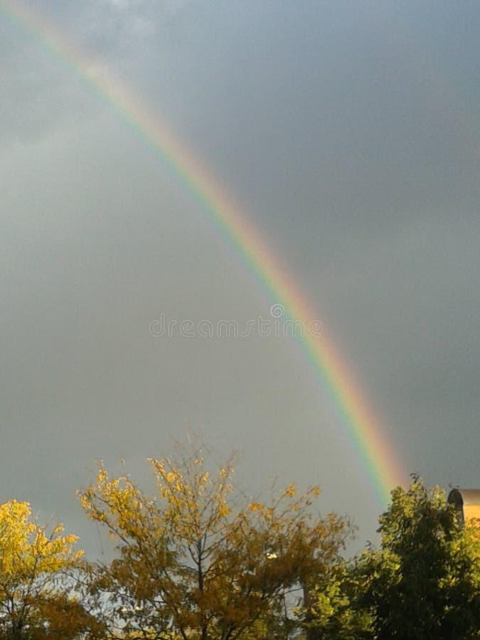 Regenbogen im Fort Collins Colorado stockfoto