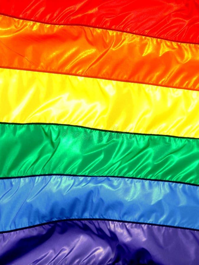 Regenbogen-Markierungsfahne stockbild