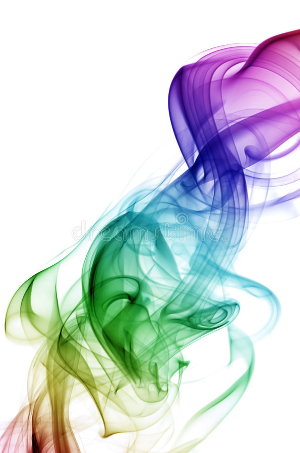 Regenbogen-Rauch stockfotografie