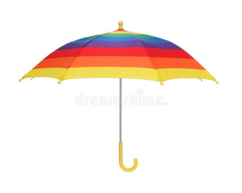 Regenbogen-Regenschirm lizenzfreies stockfoto
