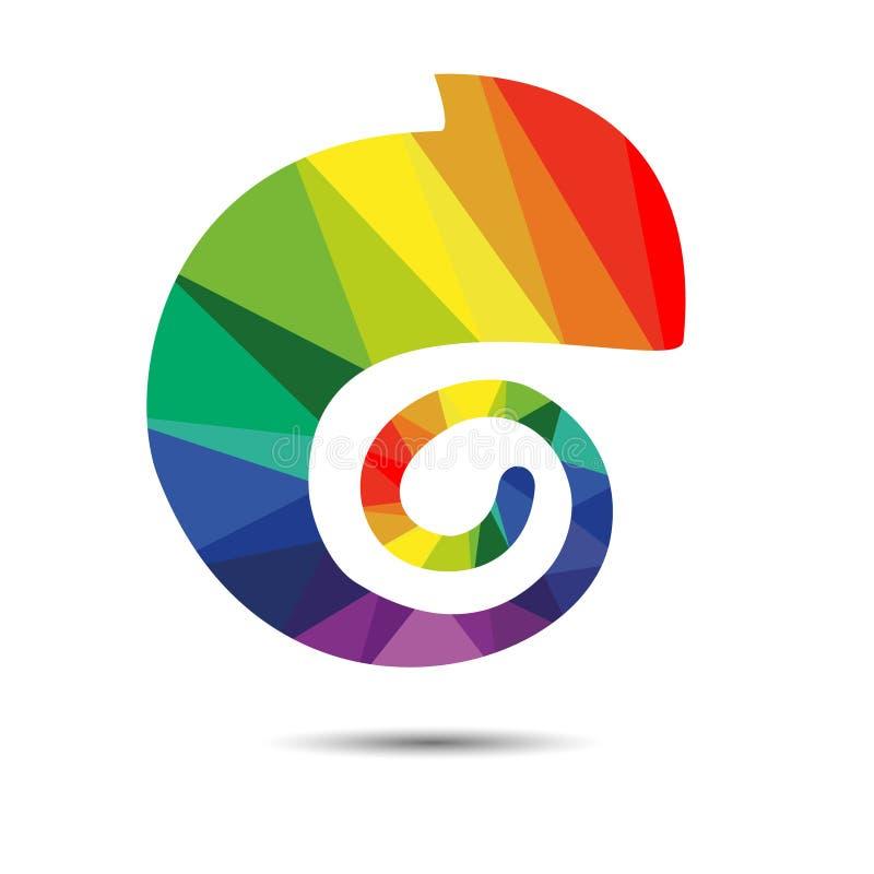 Regenbogen ` s farbiges Chamäleon vektor abbildung