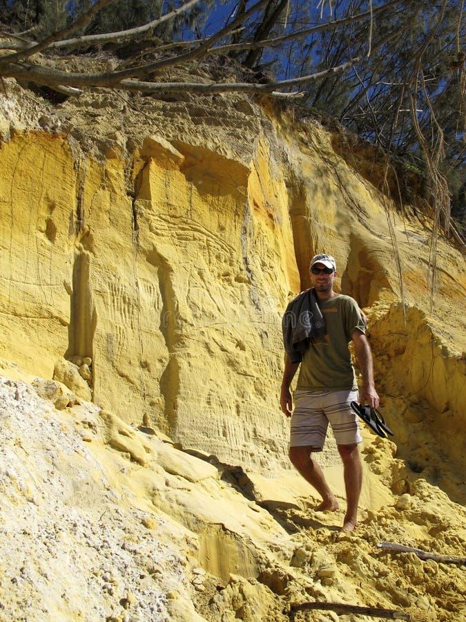 Regenbogen-Strand, Queensland, Australien lizenzfreie stockfotografie