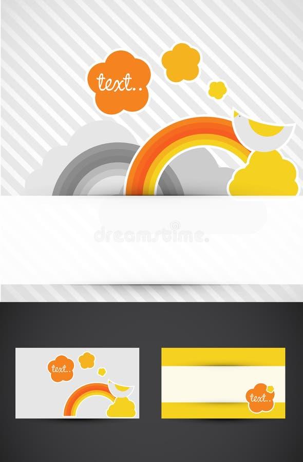 Regenbogen-Visitenkarten lizenzfreie abbildung