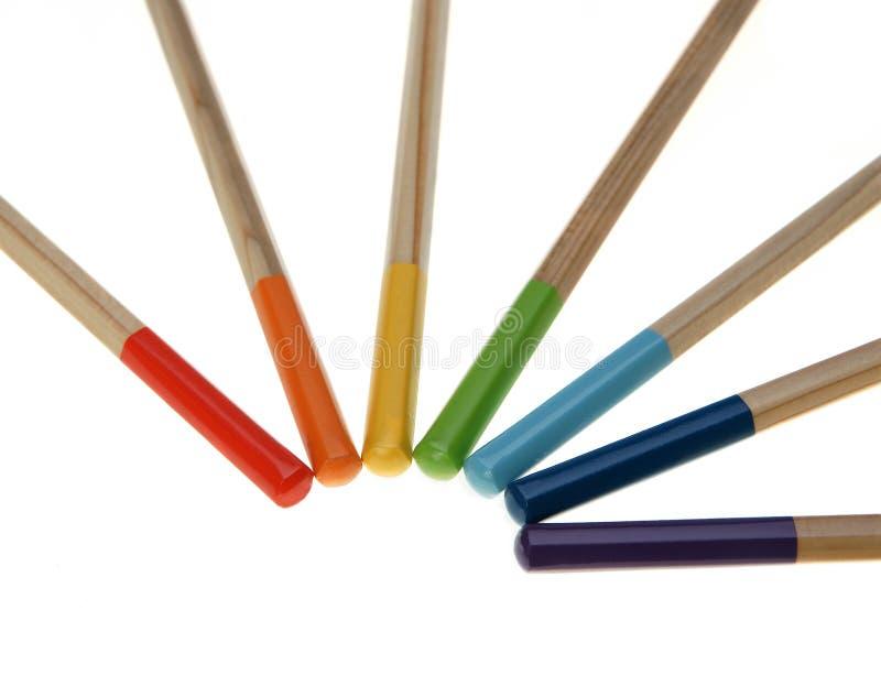 Regenbogen von den Farbenbleistiften lizenzfreies stockbild