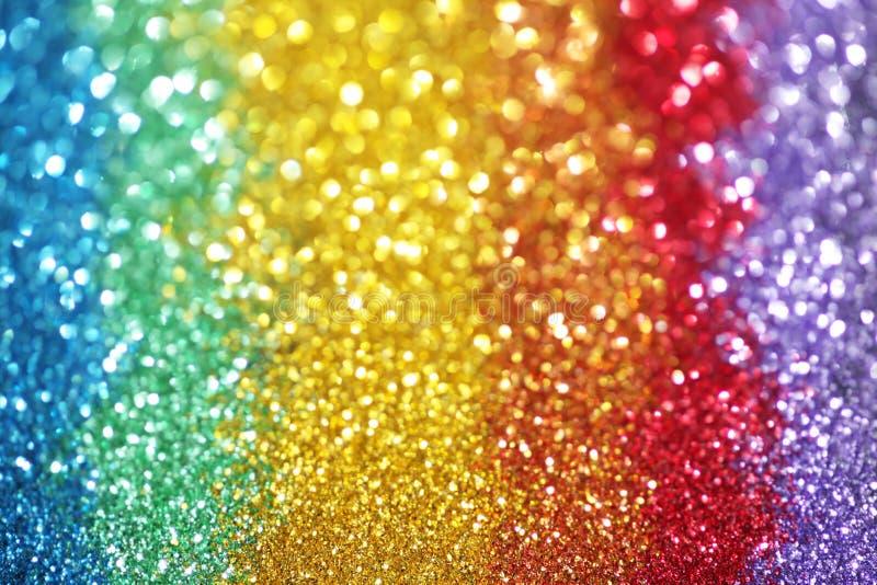 Regenbogen von Lichtern lizenzfreie stockfotos