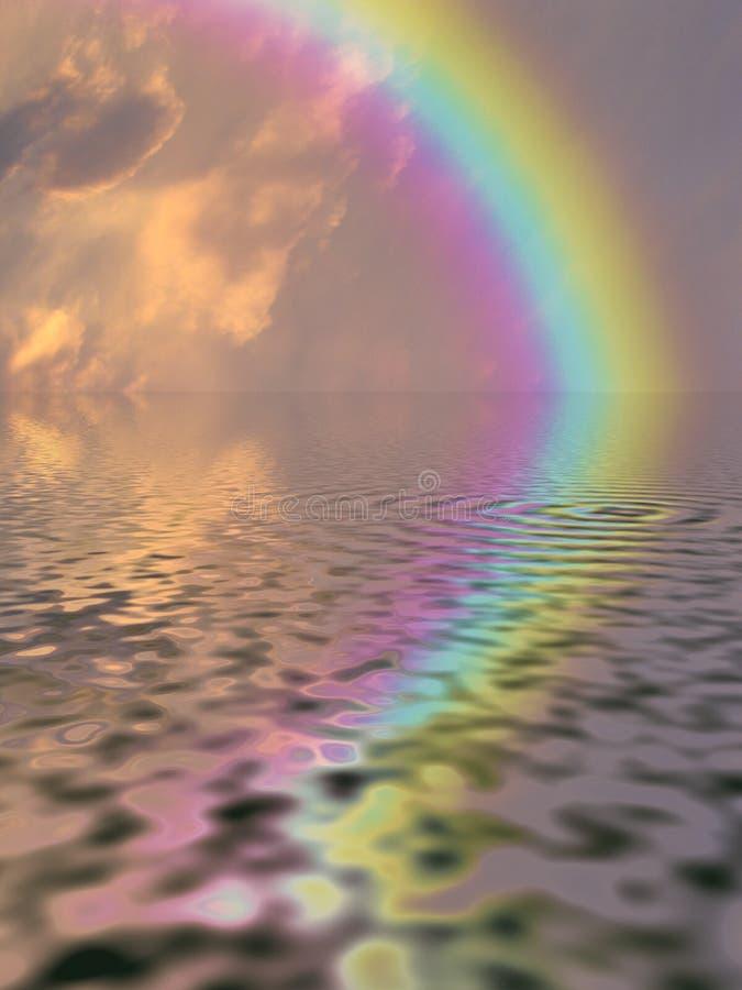 Regenbogen-Wasser lizenzfreie abbildung