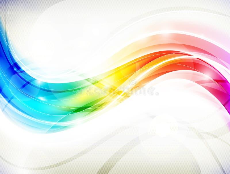 Regenbogen-Welle lizenzfreie abbildung