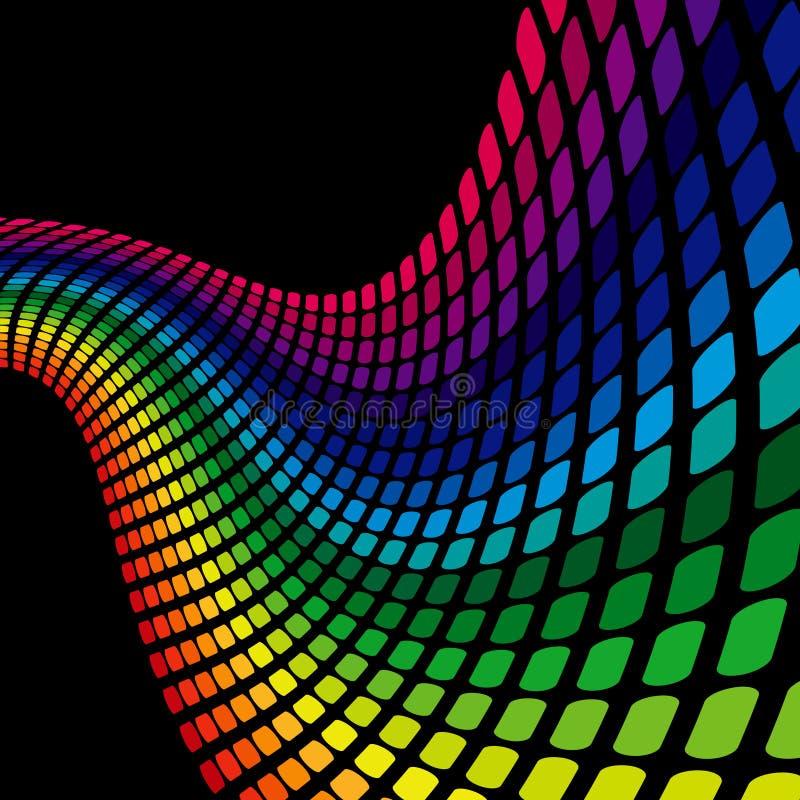 Regenbogen-Welle stock abbildung