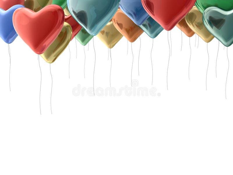 Regenbogenballone lizenzfreie abbildung