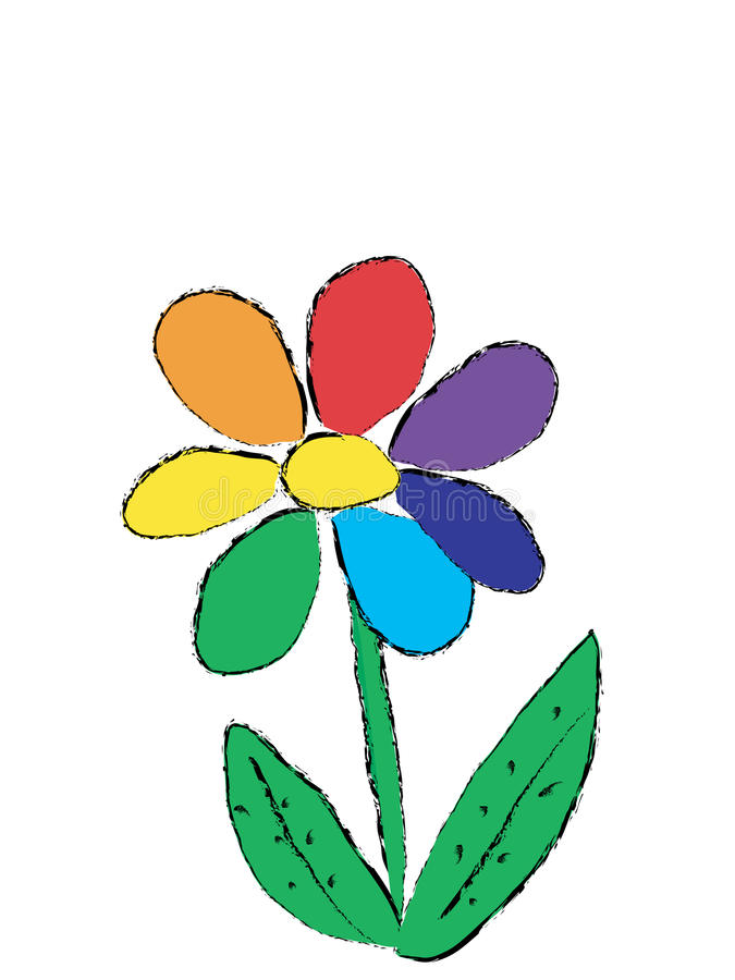 Regenbogenblume vektor abbildung