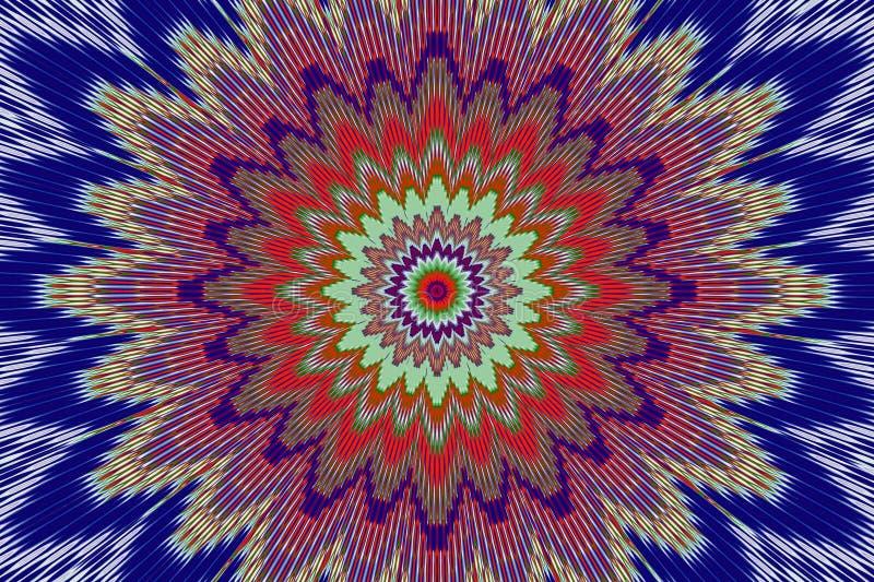 Regenbogenblumenmuster-Hintergrundblume Kalamkari vektor abbildung