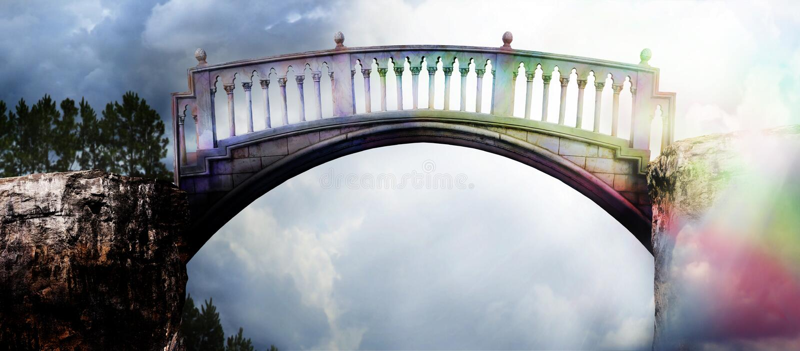 Regenbogenbrücke lizenzfreie stockbilder