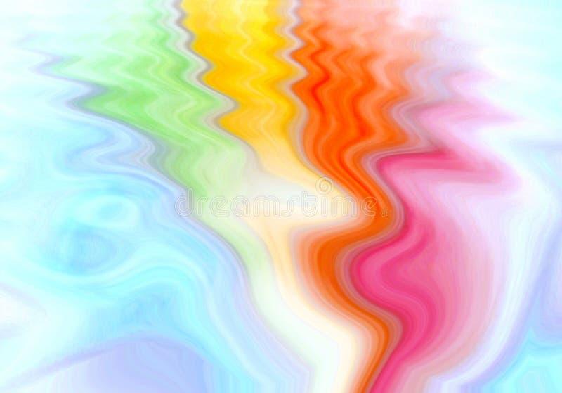 Regenbogenfarben, die als Fan mit Schwingungen ausbreiten vektor abbildung