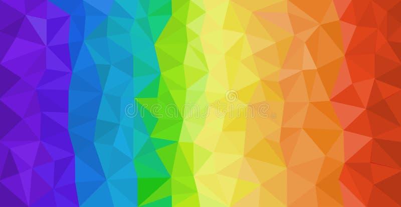 Regenbogenfarben extrahieren Hintergrund mit Dreiecken stock abbildung
