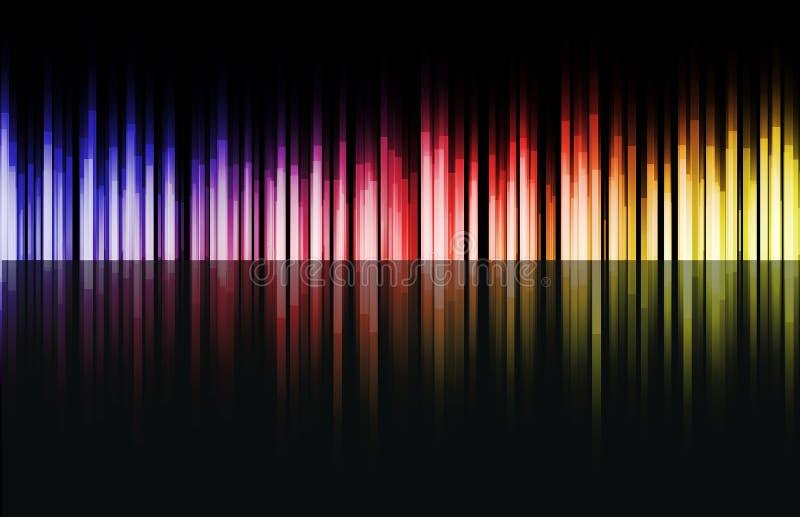 Regenbogenfarbenstäbe vektor abbildung