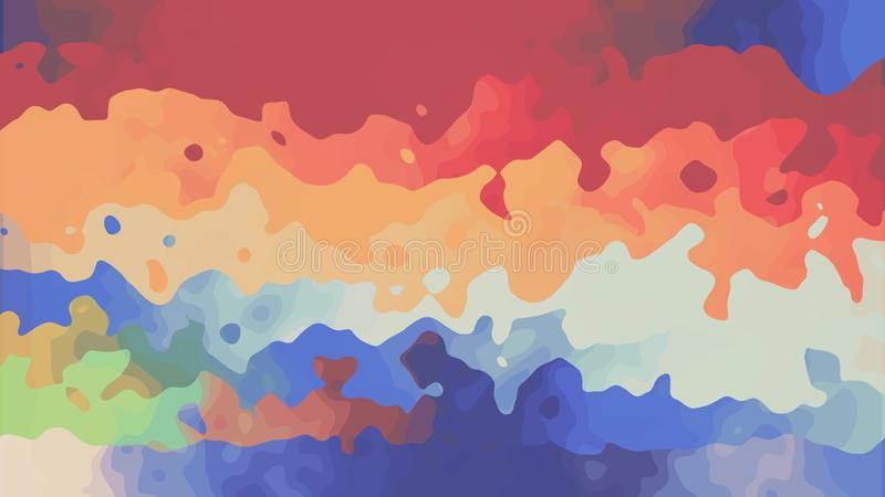 Regenbogenfarbfarbe Digital pl?tschern turbulente das Mischen auf neuer einzigartiger Qualit?t des wei?en abstrakten Illustration vektor abbildung