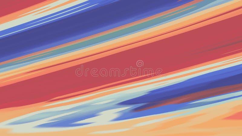 Regenbogenfarbfarbe Digital pl?tschern turbulente das Mischen auf neuer einzigartiger Qualit?t des wei?en abstrakten Illustration stock abbildung