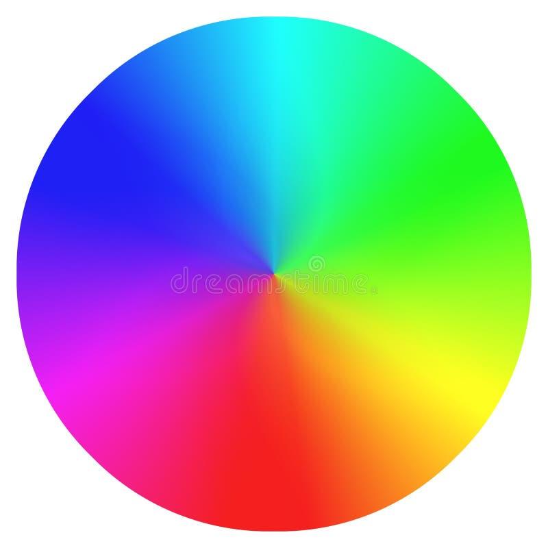 Regenbogenfarbrad lizenzfreies stockbild
