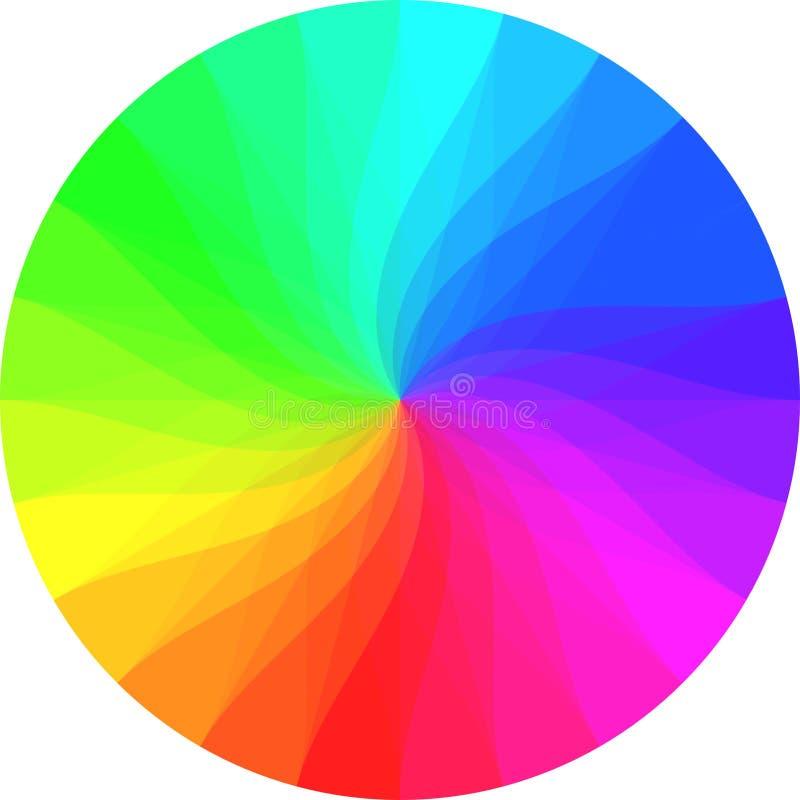 Regenbogenfarbrad lizenzfreies stockfoto