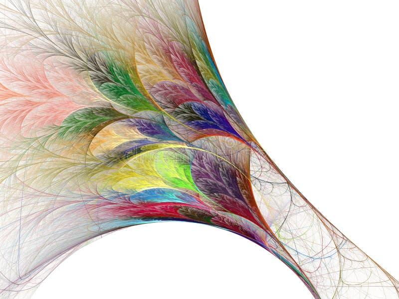 Regenbogenfeder lizenzfreie abbildung