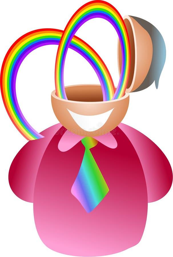 Regenbogengehirn vektor abbildung