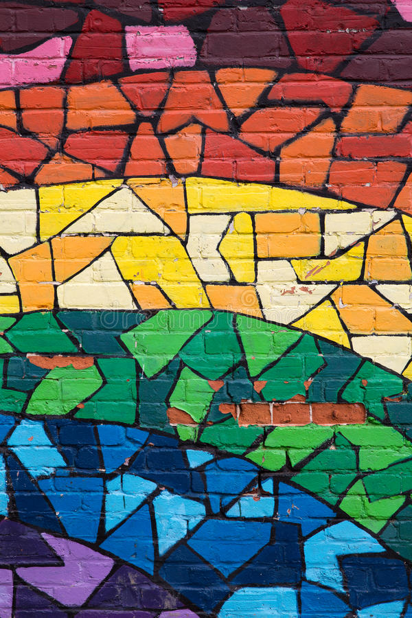 Regenbogengraffiti Montreal stockfoto