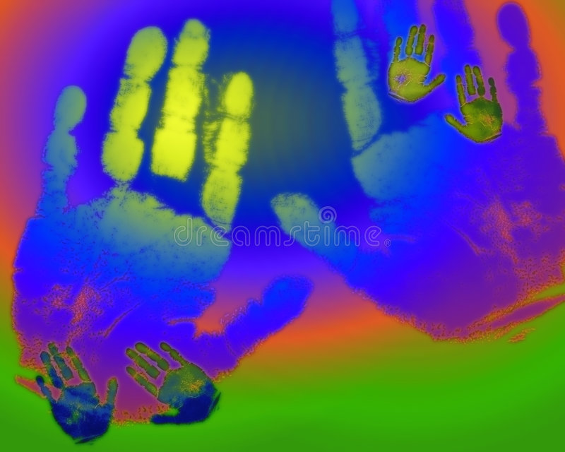 Regenbogenhände lizenzfreie abbildung