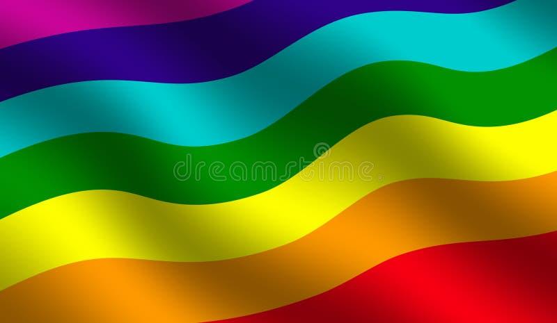 Regenbogenhintergrund vektor abbildung