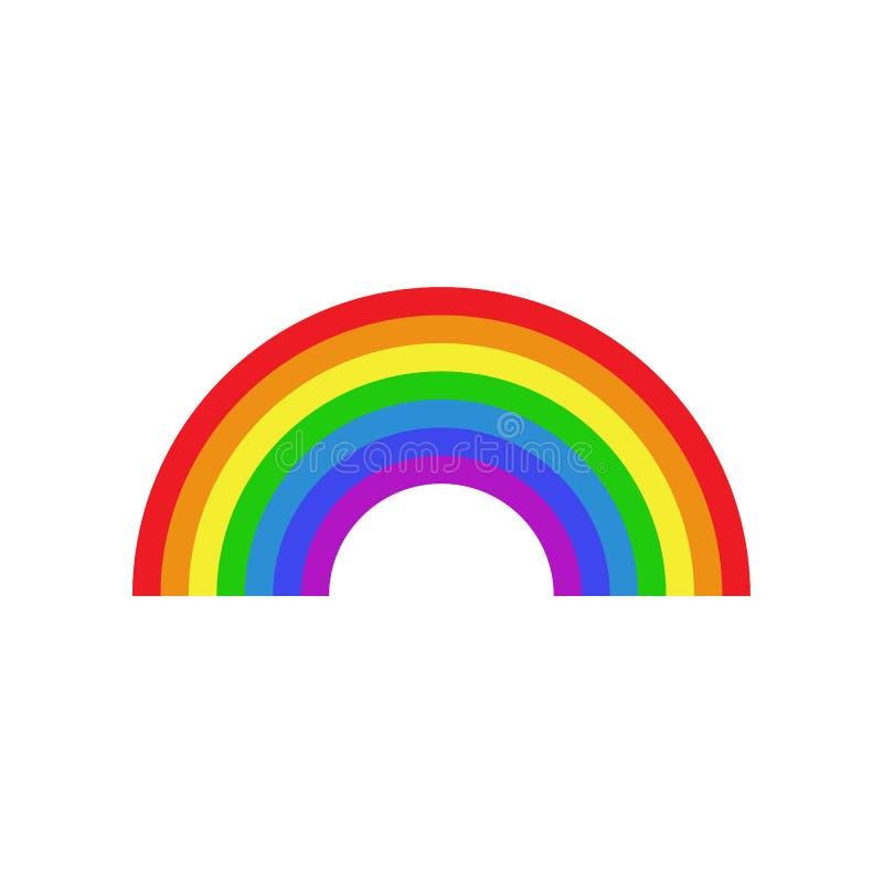 Regenbogenikone flach stockbild