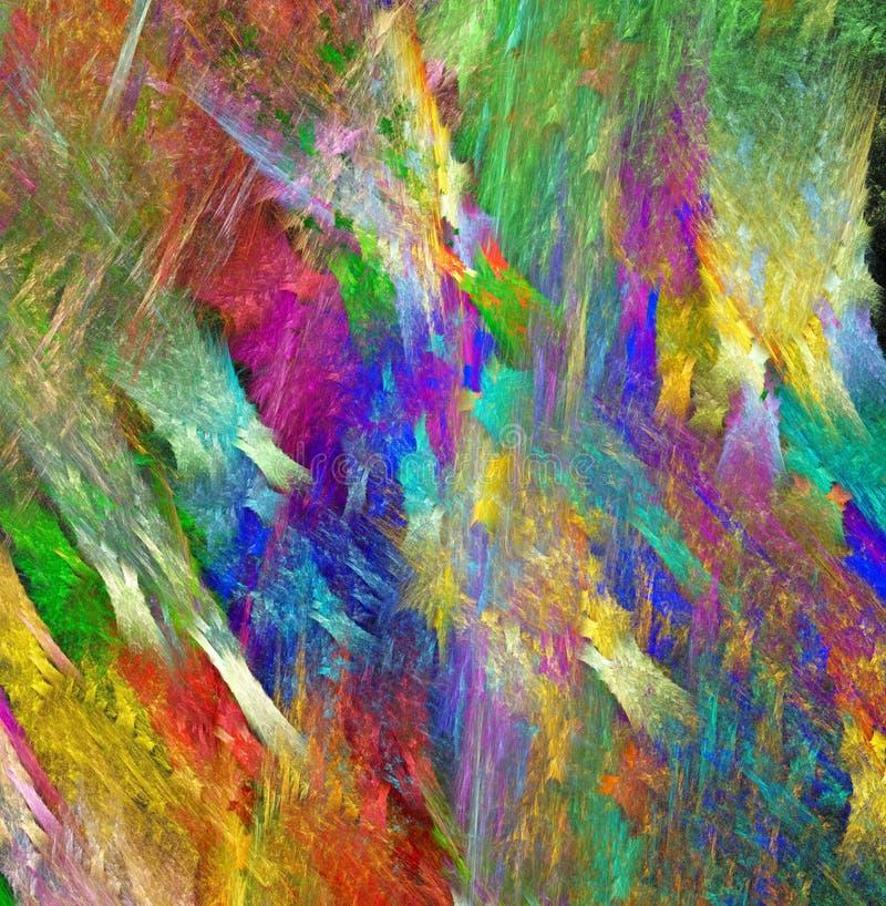 Regenbogenkristallbeschaffenheit Heller mehrfarbiger Hintergrund Fractalabstraktion lizenzfreie abbildung
