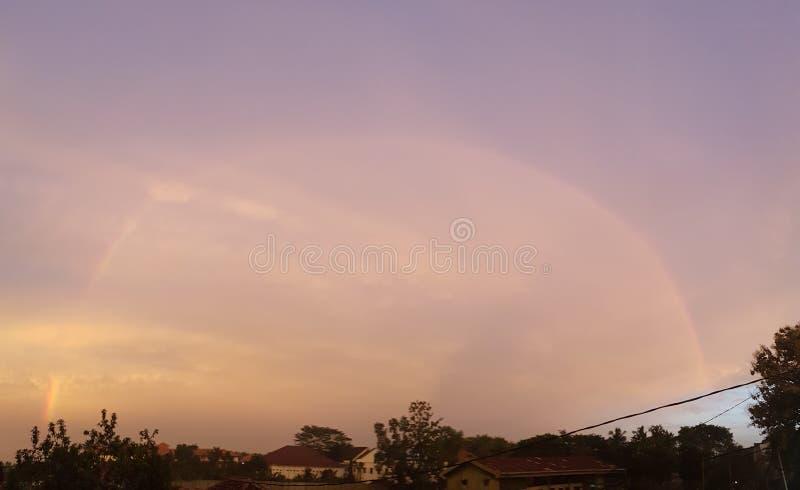 Regenbogenorange stockfoto