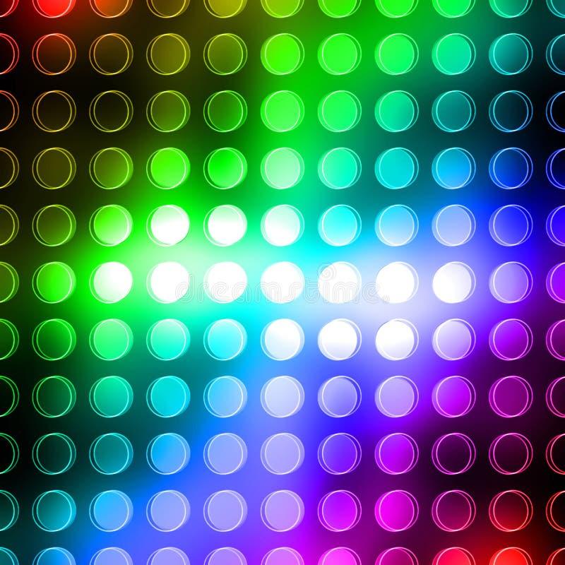 Regenbogenpunkte lizenzfreie abbildung
