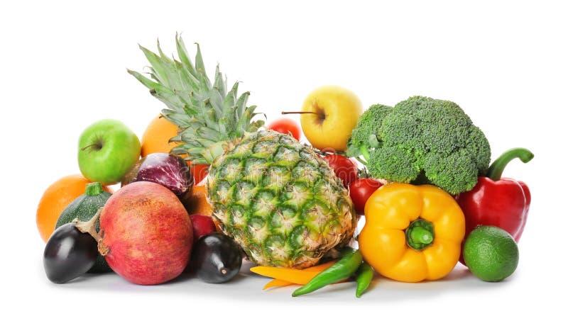 Regenbogensammlung reife Obst und Gemüse stockfotografie