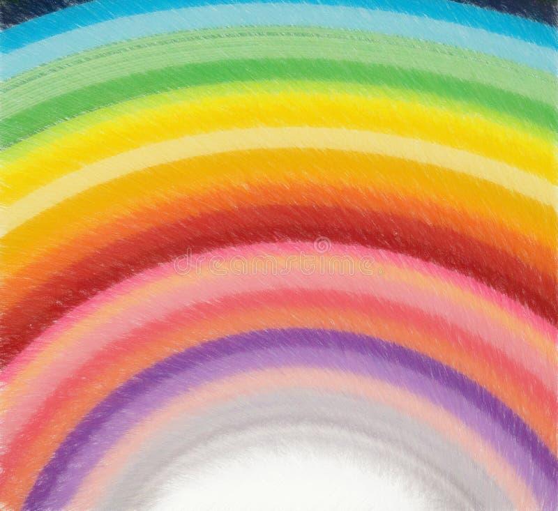 Regenbogenskizze des farbigen Bleistifts vektor abbildung