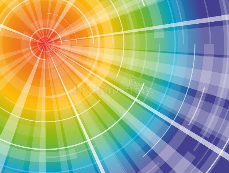 Regenbogenspektrumsonne stock abbildung