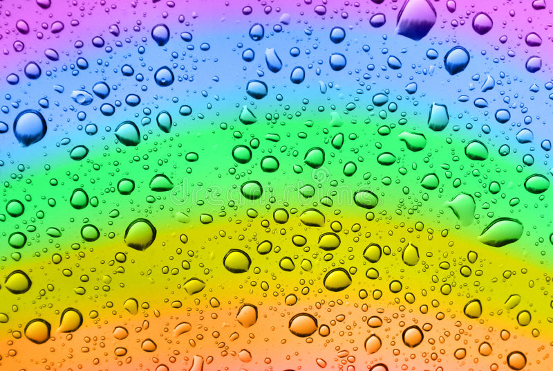 Regenbogentropfen stockfoto