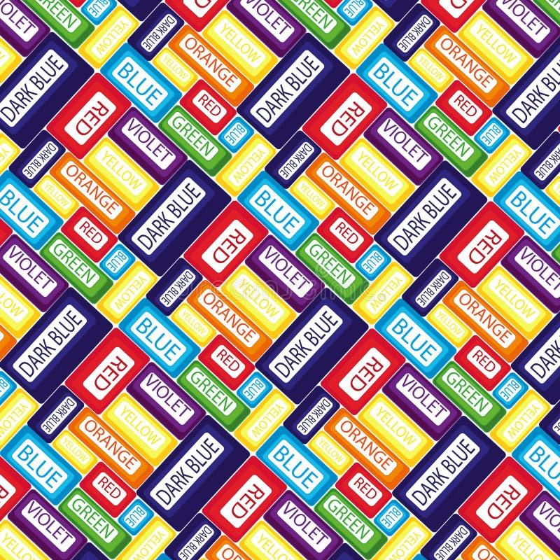 Regenbogenwörter lizenzfreie stockbilder