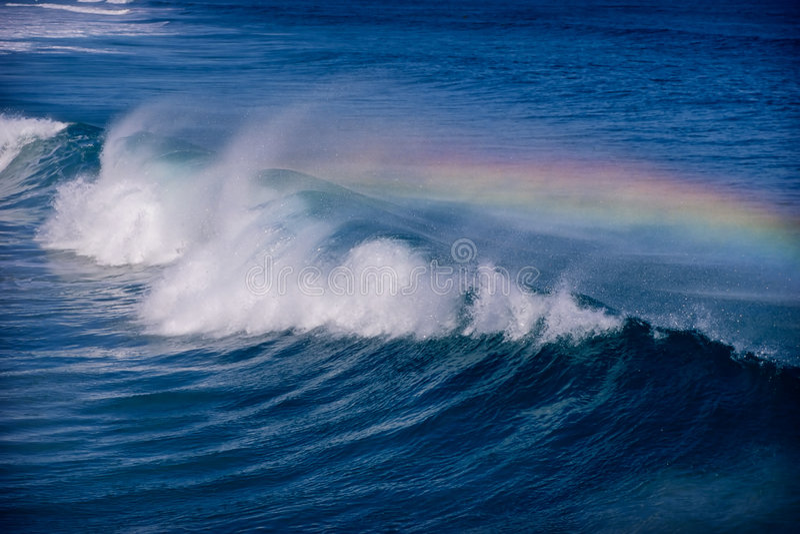 Regenbogenwelle stockfoto