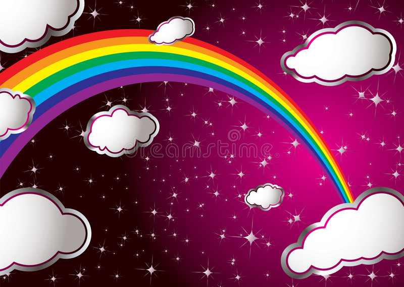 Regenbogenwolke vektor abbildung