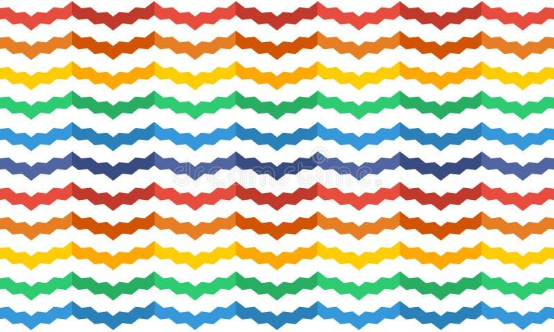 Regenbogenzickzackhintergrund stockbild