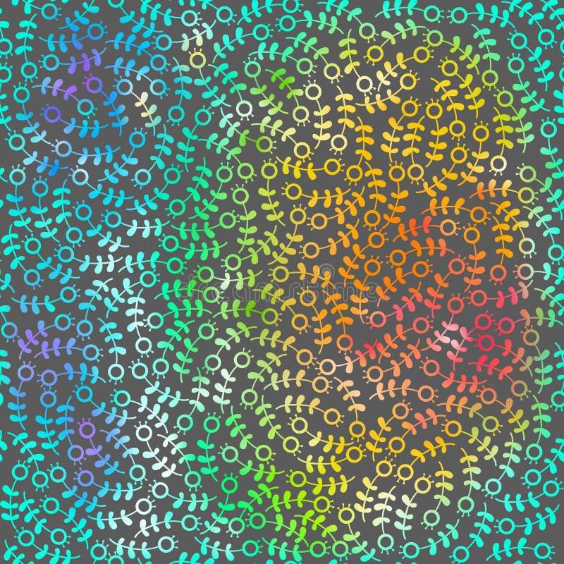 Regenboog abstracte vectorachtergrond met krabbel stock foto