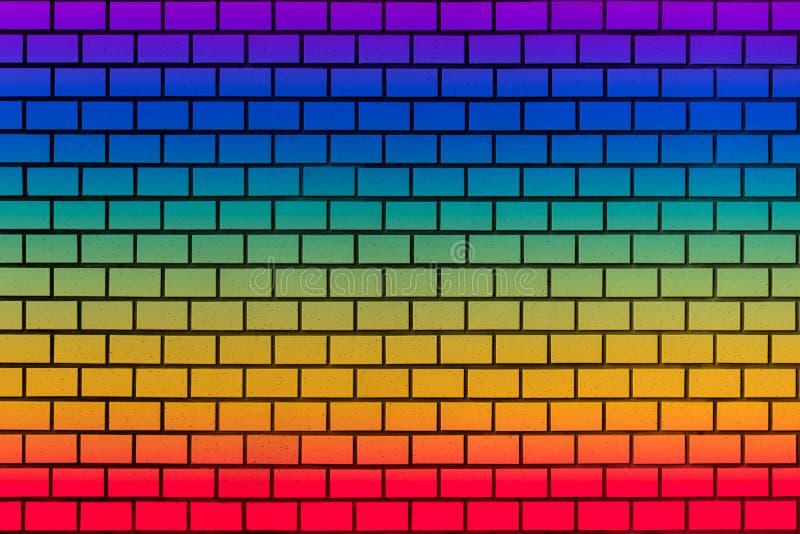 regenboog coloful muur stock foto