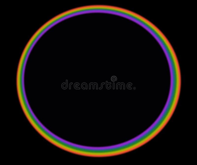 Regenboog in de hemel royalty-vrije stock afbeeldingen